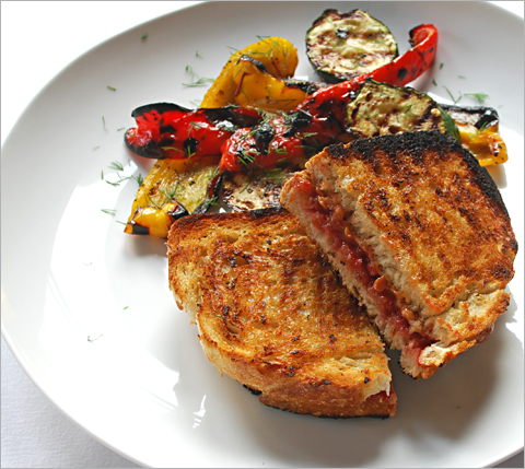 Grilled Vegetable And Anchovy Butter Sandwiches Recipe ...